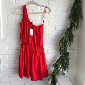 NWT Banana Republic Red Holiday One shoulder Dress